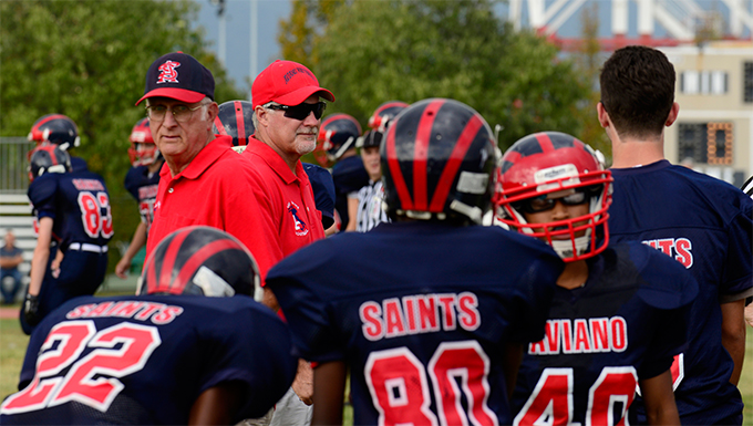 Coaches bring valuable lessons to Aviano's youth football players