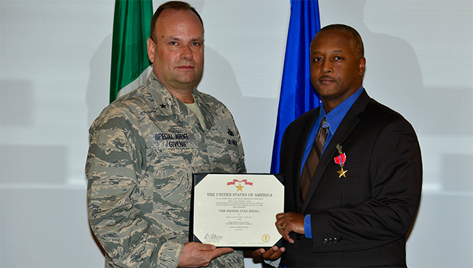 Aviano Airman receives Bronze Star Medal
